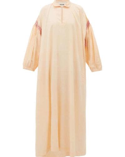Story Mfg. - Alea Crochet-trim Voile Dress - Womens - Pink