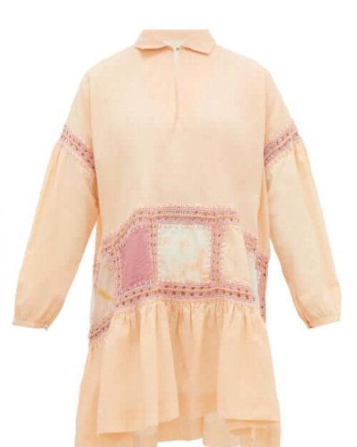 Story Mfg. - Olga Crochet-trim Voile Mini Dress - Womens - Pink