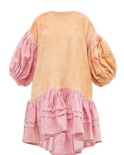 Story Mfg. - Verity Organic-cotton Corduroy Dress - Womens - Pink