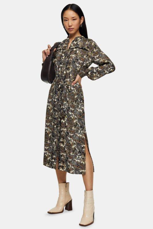 spring essential topshop midi dress