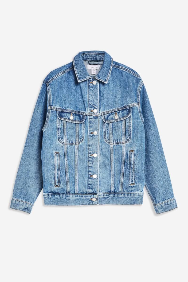 topshop Blue Oversized Denim Jacket