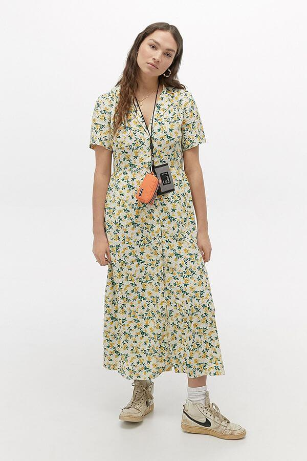 spring essential urban outfitters floral midi dress