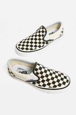 Vans Anaheim Factory Checkerboard Slip-On Trainers - black UK 6 at Urban Outfitters