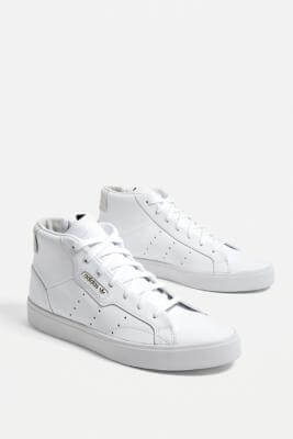 urban outfitters adidas Originals Sleek Mid Trainers - white