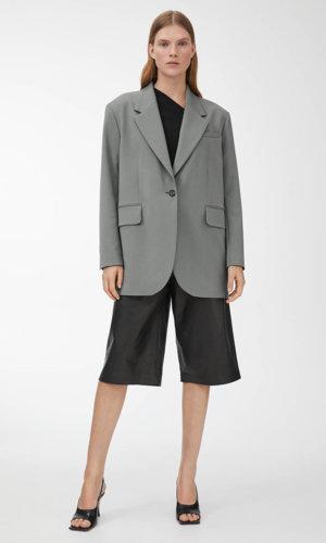1/5 Oversized Twill Blazer
