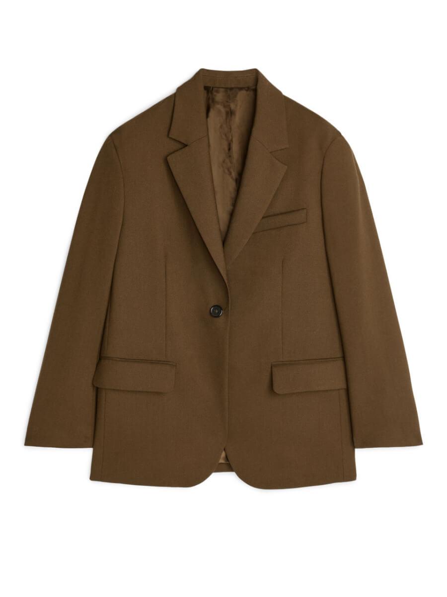 spring essential arket Oversized Wool Hopsack Blazer - Beige
