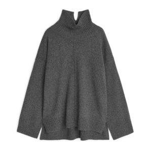 ARKET Recycled Cashmere Blend Jumper - Grey