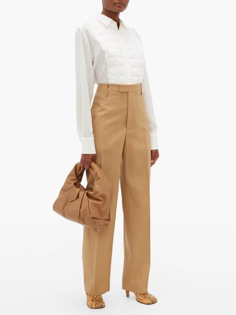 Bottega Veneta - High-rise Wool-twill Straight-leg Trousers