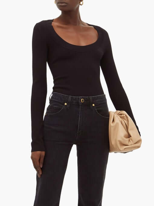 Khaite Kerry scoop-neck bodysuit