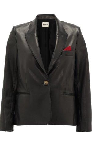 Brita single-breasted leather jacket