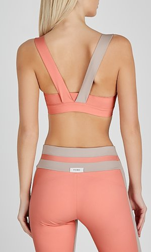 Elsa pink and taupe bra top