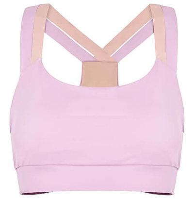 Lin pink stretch-jersey bra top