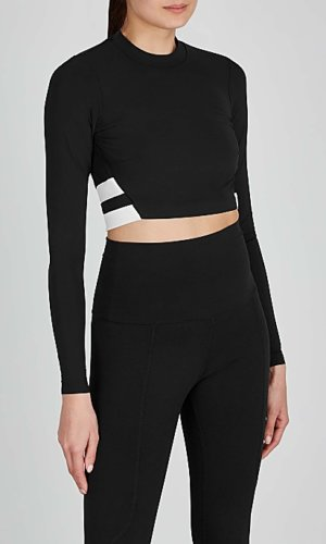 Orie monochrome cropped top.
