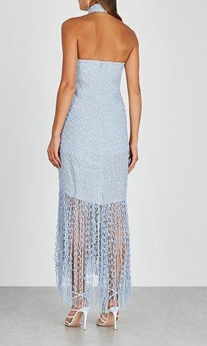La Robe Cortese bouclé-knit midi dress