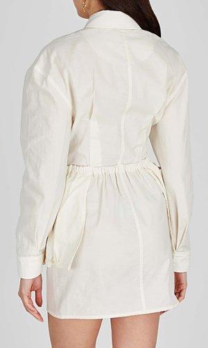 Jacquemus La Robe Cuillette ivory shirt dress