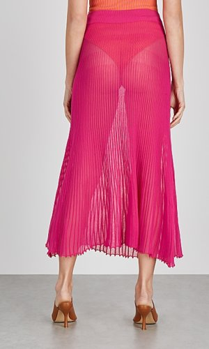 Jaquemus La Jupe Helado Longue pink midi skirt