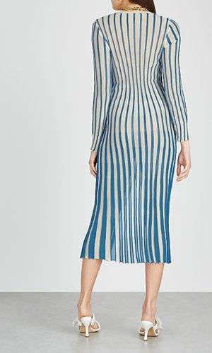 La Robe Jacques striped fine-knit midi dress