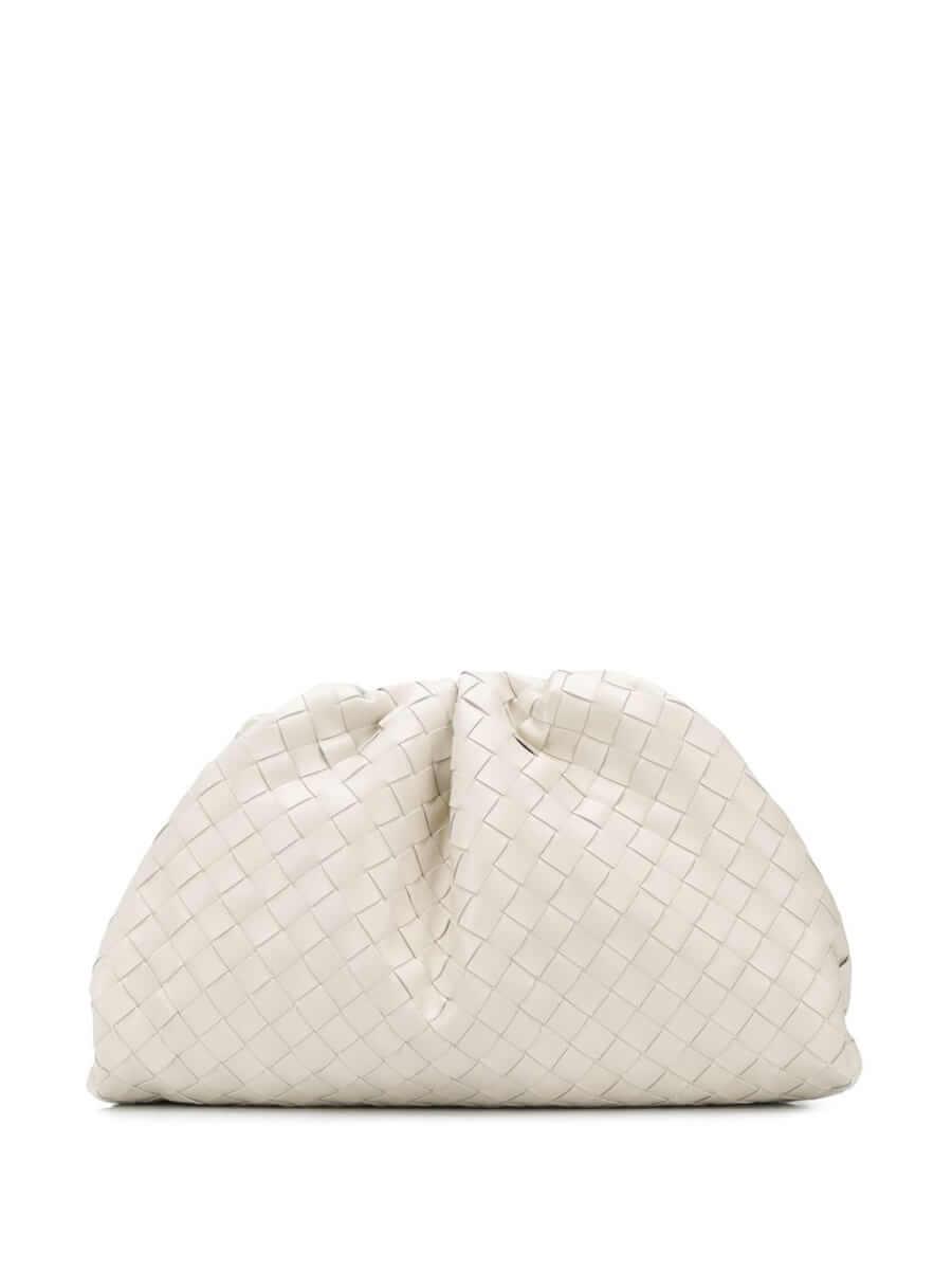 BOTTEGA VENETA | The Pouch clutch | white