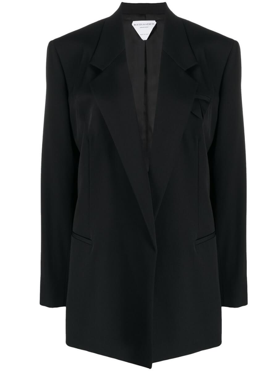 BOTTEGA VENETA double breasted blazer black