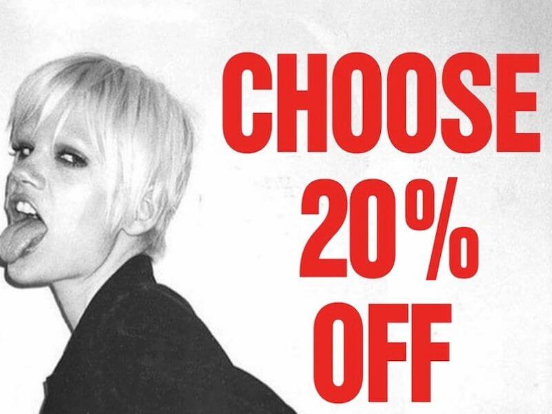 Katherine Hamnett Banner 20% off
