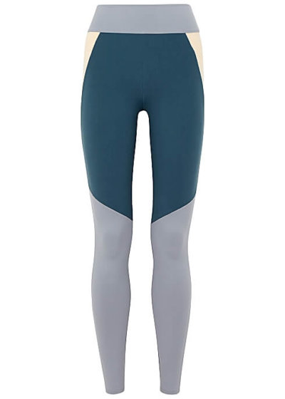 activewear LIVE THE PROCESS Transcend panelled stretch-jersey leggings