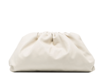 The Pouch large leather clutch white