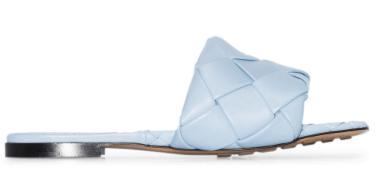 blue BOTTEGA VENETA BV Lido woven-style sandals