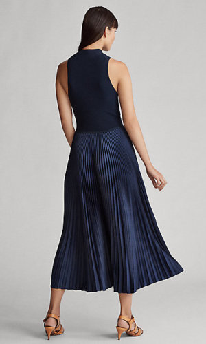 Sleeveless Mockneck Dress