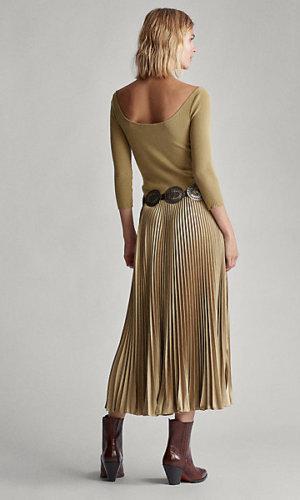 Ribbed Boatneck Midi Dress