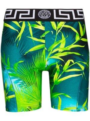 VERSACE Jungle print cycling shorts