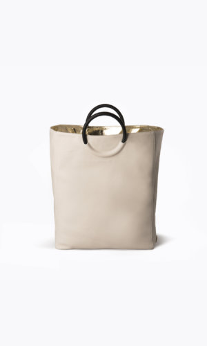 Kikiito Fukuro Ivory Handbag
