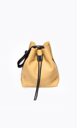 Kikiito Sasa Yellow Handbag . Whatever your day has in store for you, the slouchy Sasa with its relaxed structure and large bucket bag style