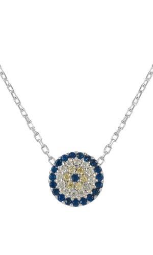 Latelita Evil Eye Necklace Silver