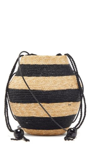 ELIURPI Striped mini cross-body bag