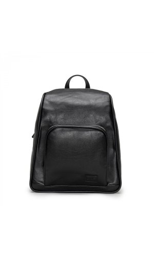 Leia- Black Backpack With Two Zippers