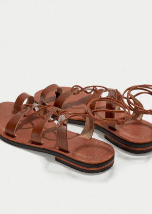 Gaia Brown Sandals