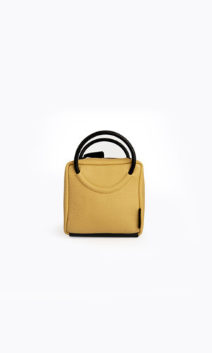 Kikiito Shokupan Mini Yellow Handbag