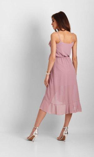 Ivon Cocktail Strappy Dress-Pink