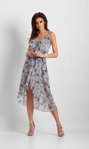 Ivon Cocktail Strappy Dress-Blue