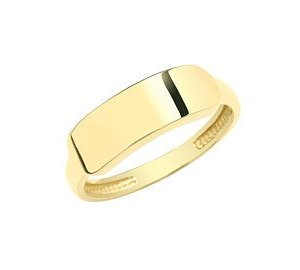 Genuine 9CT Yellow Gold RingGenuine 9CT Yellow Gold Ring - Gold ID Signet Ring H-Q Sizes - Gift Boxed