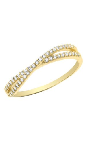 Gold Gemstone: Cubic zirconia Description Genuine 9CT Yellow Gold Ladies Ring -