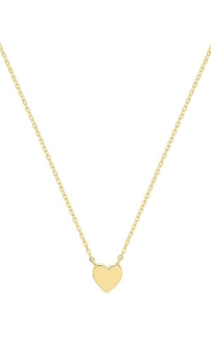Genuine 9CT Yellow Gold Necklace - Solid Gold Heart Shaped Necklace - Gift Boxed