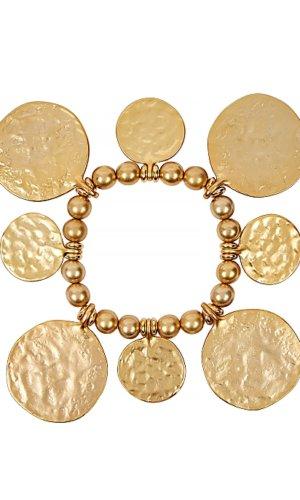 Gold-tone coin bracelet