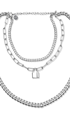 Silver Tripple layer necklace