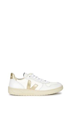 V-10 white mesh sneakers
