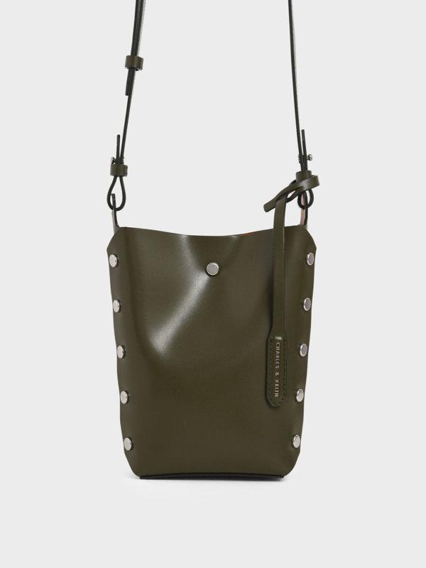Mini Reversible Studded Crossbody Bag