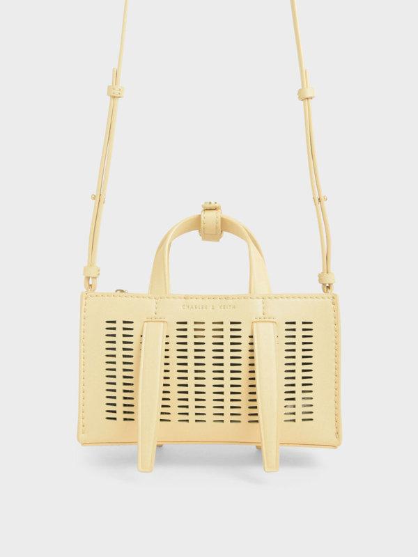 Laser-Cut Double Top Handle Bag