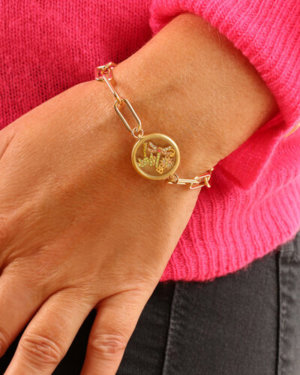 Kate Thornton 'Club Tropicana' Gold Palm Tree Floating Locket Bracelet