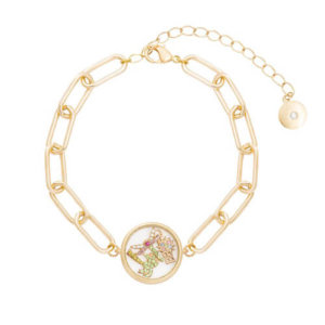 Kate Thornton 'Club Tropicana' Gold Palm Tree Floating Locket Bracelet