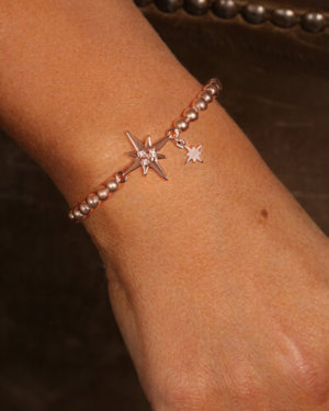 Kate Thornton Rose Gold North Star Friendship Bracelet